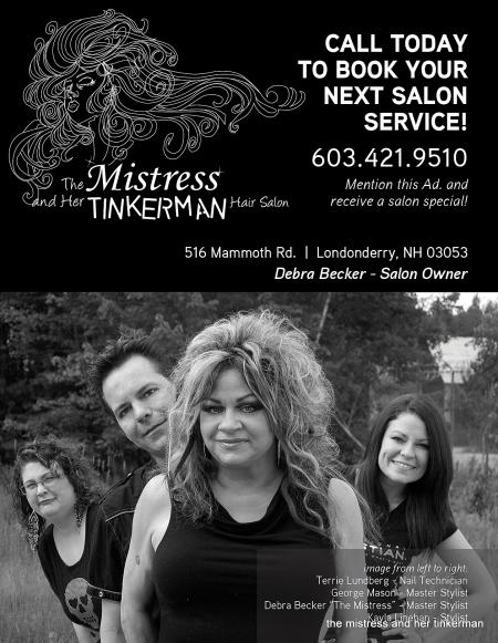THE MISTRESS AND HER TINKERMAN SALON by Debra becker
