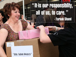 Farouk donates products to salons impacted by Hurricane Sandy
