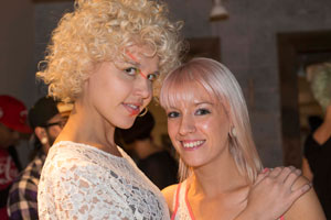 Beauty buffs celebrate the grand opening of Red Bank NJ`s newly expanded Salon Concrete.