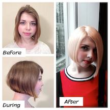 A before and after look at this color transformation