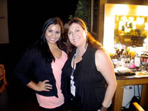 A.I.I. Public Relations Representative Alanna Littlepage, left, and celebrity makeup artist Julie Socash, right, backstage at the BET Awards on Sunday, June 26, 2011.