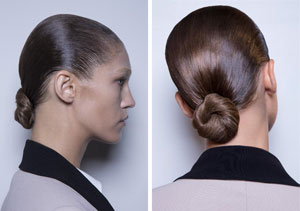 Runway Update: Modern Chignon at Akris