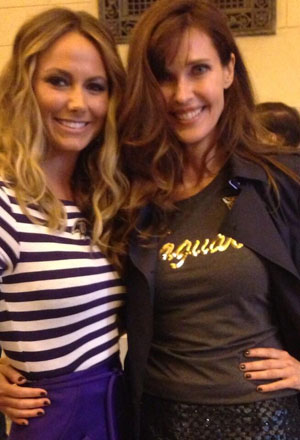 Carol Alt (right) with her friend Stacy