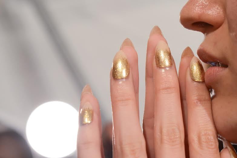 Gilded Gradient Nails from NYFW