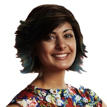 The Voice`s Juhi flaunts a cool turquoise hue.