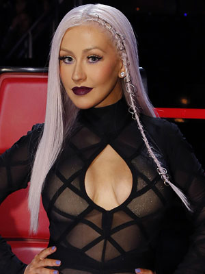 Christina Aguilera Goes Lilac; Recreate Her Look Now