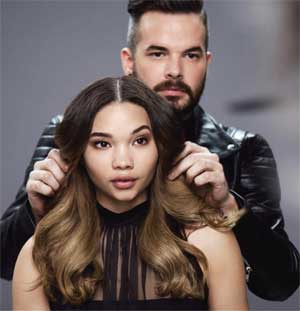 Mocha Sombre muse and model Ashley Moore rocks a rich chocolate color design by Redken Artist Sean Godard.