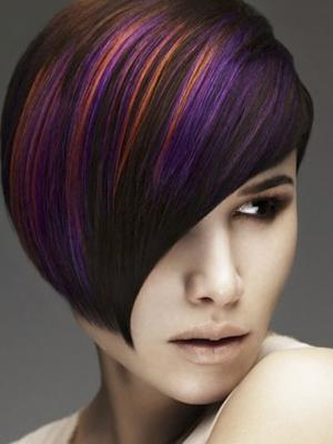 Avant-Garde:_Medium_and_light_brunette_with_orange,_lavender_and_purple_accents_by_Mark_Leeson_