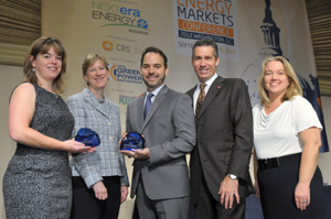 From left, Sarah Meyer of Hobart & William Smith Colleges; Elizabeth Craig, Director, Climate Protection Partnership Division, US Environmental Protection Agency; Zotos VP of Operations and Chief Sustainability Officer Anthony Perdigao; Zotos President & CEO Ron Krassin; and Megan Connor Murphy, VP, Public Affairs, Dixon Schwabl.