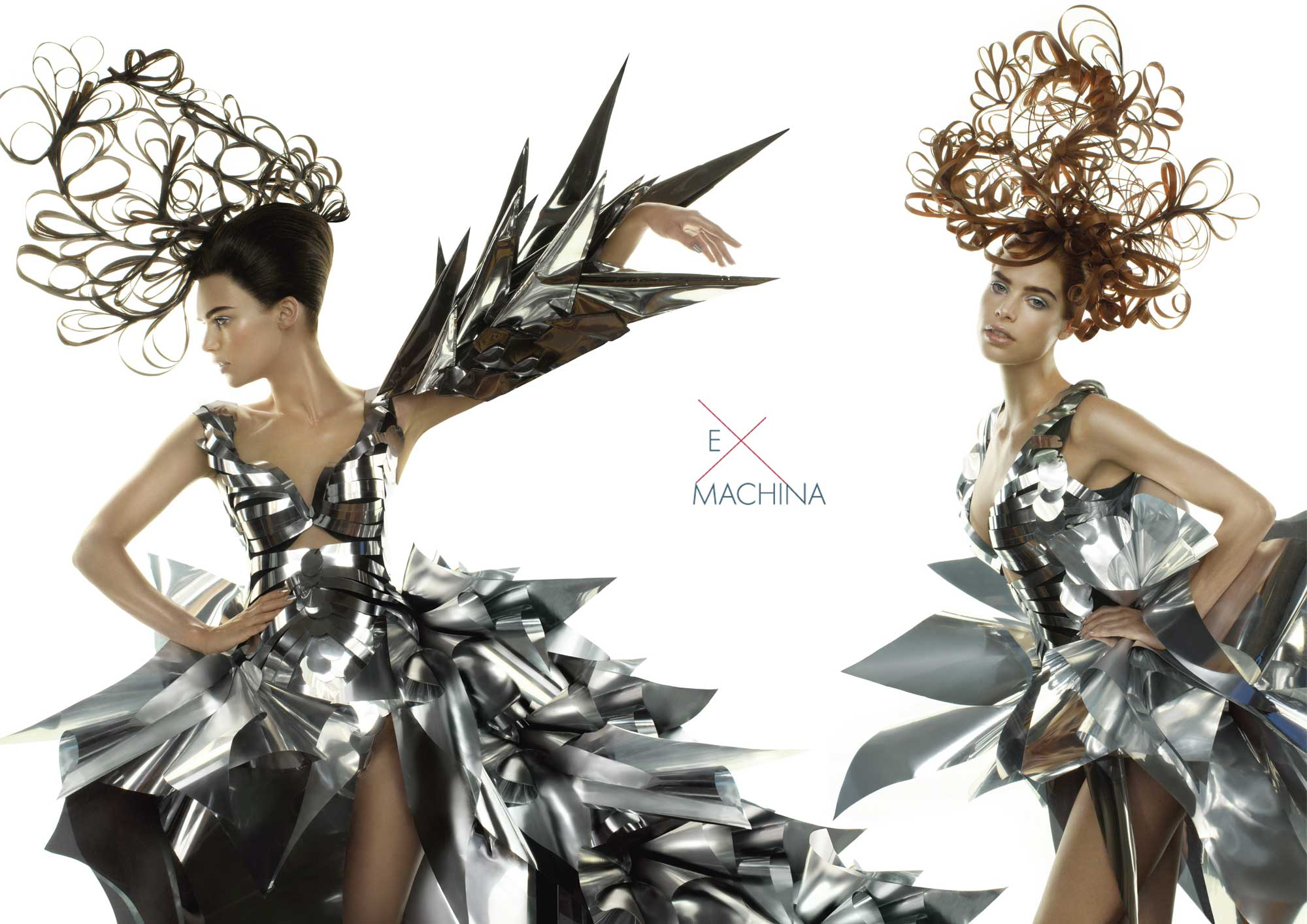 Hair: Chris Vandehey; Makeup: Wanda Alvarez; Fashion: Rocky Gathercole. Photography by Luis Alvarez for Aquage