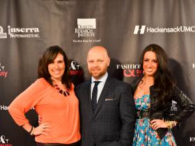 From l. to r.: Dana Prigge of The Daily Fashionista with Stephen Marinaro, The Salon Guy and Designer Amanda Esposito.