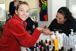 Guests enjoyed manicures from China Glaze; Photo courtesy of Wish Upon A Teen