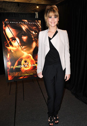 Jennifer Lawrence hits the road on a tour to promote her upcoming movie, `The Hunger Games.`