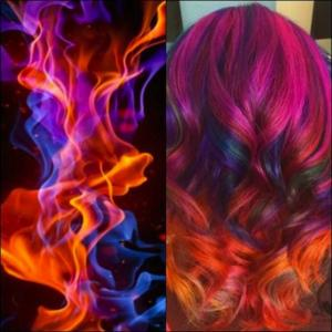 Magenta,_blue_and_orange_colormelt_inspired_by_dancing_flames_by_Samantha_Daly_IG_@bottleblonde76_