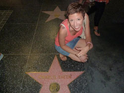 Jen star gazes while in Hollywood