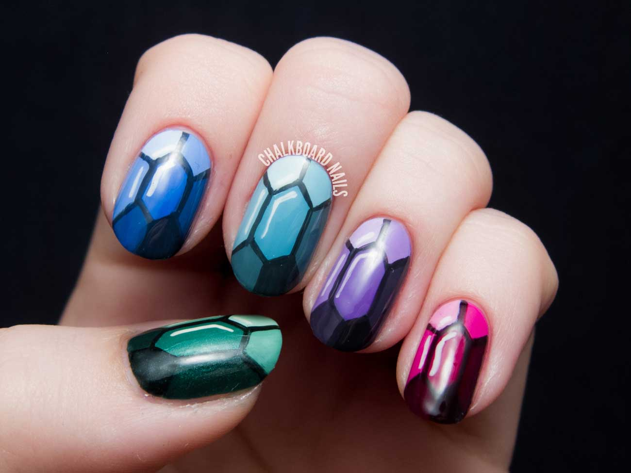 Precious Gems Nail Art by Chalkboard Nails