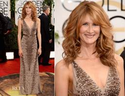 Hair Color How-To: Laura Dern`s Radiant Rose Gold