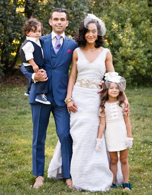 Mascolo family: Zak, Caroline and children