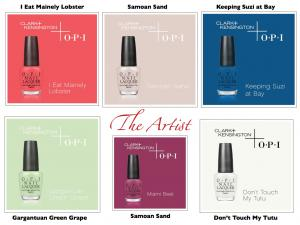 The_Artist_Paint_Swatches_with_Matching_OPI_Nail_Lacquer_Shades_