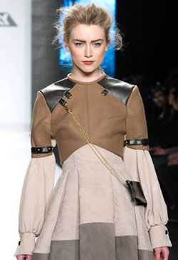 Project Runway winner Season 11 Michelle Lesniak Franklin reimagined Steampunk couture into mainstream fashion.