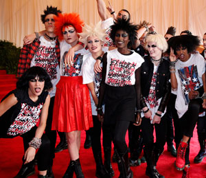Attendees at New York City`s recent Met gala decked themselves out in the punk theme. Courtesy of Kevin Tachman