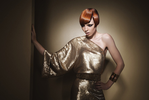 Hair (cut and styling): Damien Carney, Joico International Artistic Director; Color: Sue Pemberton, Joico Vero K-PAK Color International Artistic Director; Wardrobe: Nikko Kefalas; Makeup: Walter Obal; Photographer: Hama Sanders; Creative Director: Joseph Suarez, Joico Creative Director
