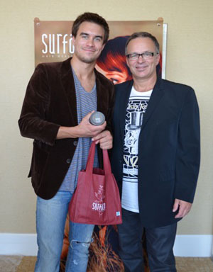 From Left: Rob Mayes and Surface Founder Wayne Grund share a smile at the Surface event.