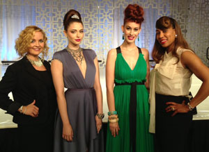 Pictured are Sherri Jessee and Faatemah Ampey with their stunning models. Hair: Sherri Jessee & Faatemah Ampey, Makeup: Sherri Jessee, Wardrobe: Rod Nova