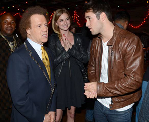 Richard Simmons, Emily VanCamp and Josh Bowman chat it up at the Season 2 Wrap Party of Revenge