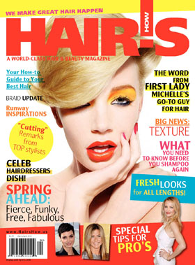 HOT by Hair's How Magazine, March/April 2010 issue - look inside