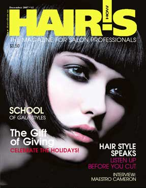HOT by Hair's How Magazine, December 2007 issue - look inside