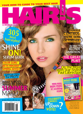 HOT by Hair's How Magazine, May/June 2010 issue - look inside