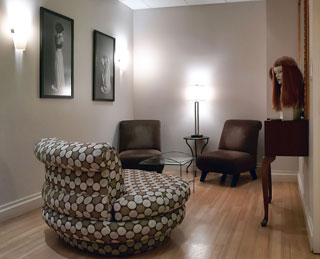 Angelo David's tranquil salon space