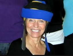 The Rapunzel Project's founder Shirley Billigmeier-a breast cancer survivor-sports a cold cap and a smile