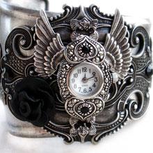 Steampunk cuff watch