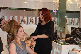 Hair professionals work their magic in primping guests