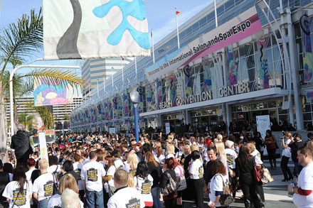 Beauty professionals and students from around the world get ready to enter ISSE Long Beach