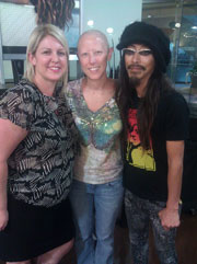 Jen at Paul Mitchell The School in Sherman Oaks with Lucie Doughty and Takashi Kitamura