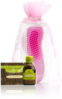 The Limited Edition Pink No Tangle Pre-Styler Brush by Macadamia Natural Oil