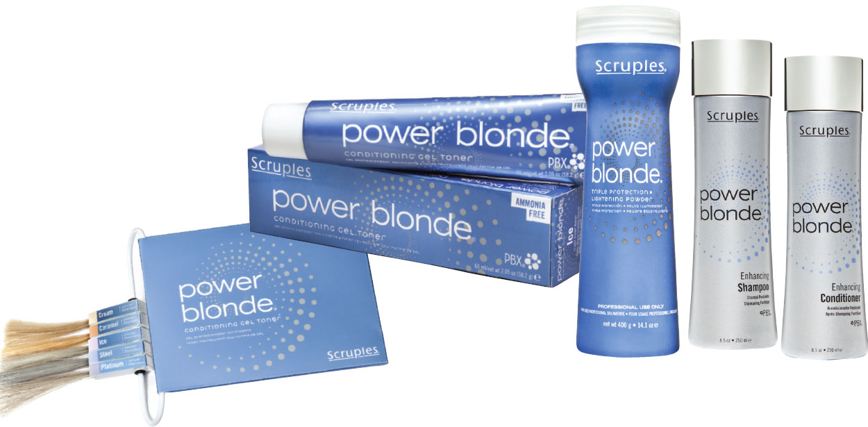 Scruples POWER BLONDE lightening and toning system