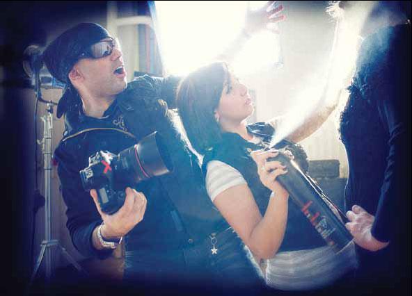 Kassandra Retos and photographer Babak