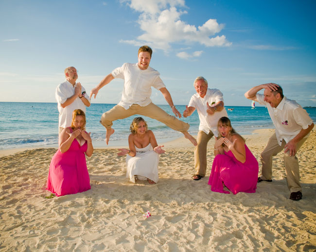 The beach wedding in Jamaica