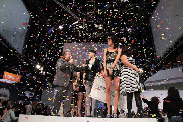 Excitement whirls through the air as the winners debut on stage