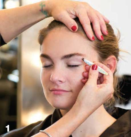 Hairstyle: Editorial Makeup How-To - before
