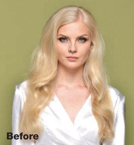 Hairstyle: Elegant Braided Ponytail - before