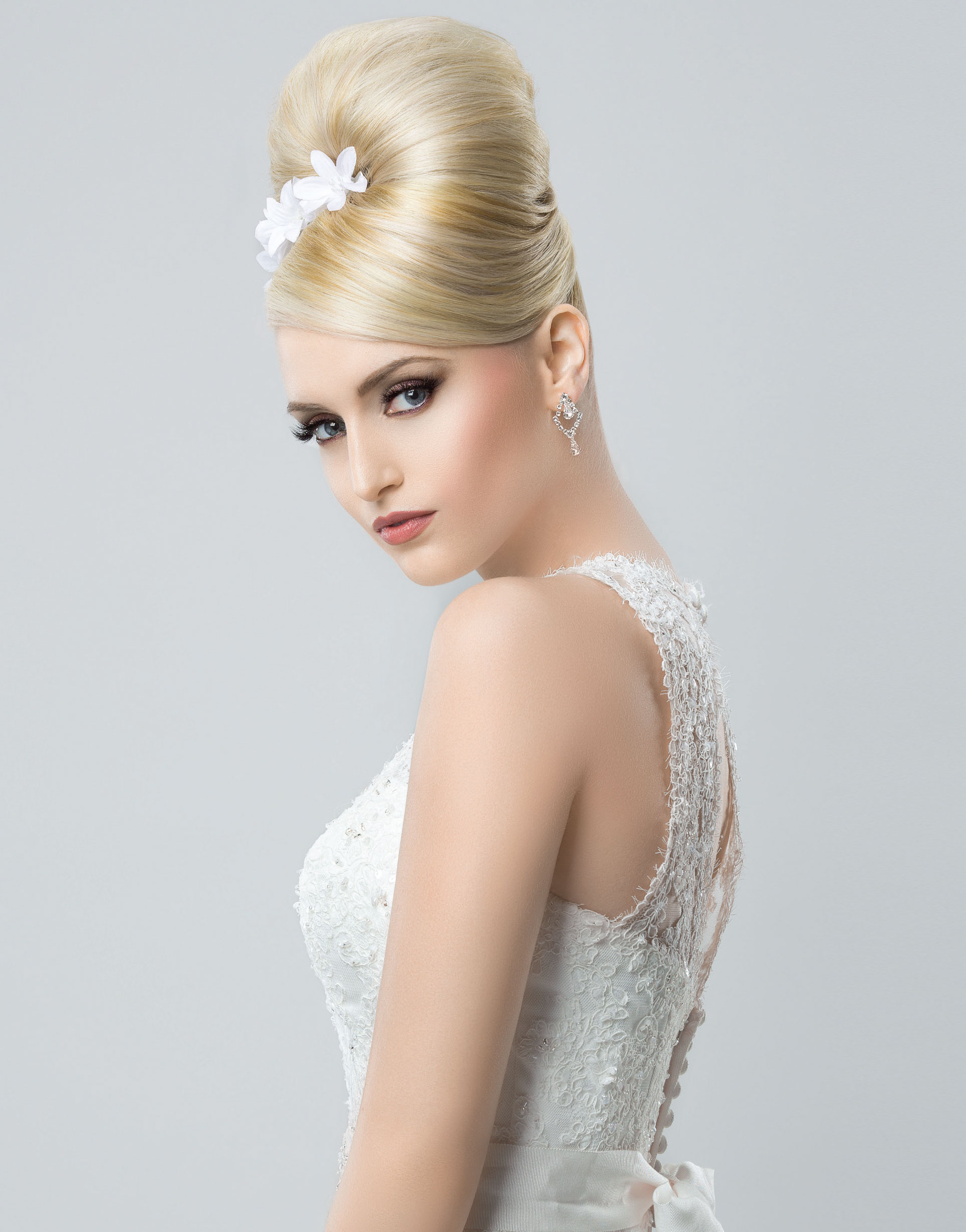 High Sleek Bridal Bun