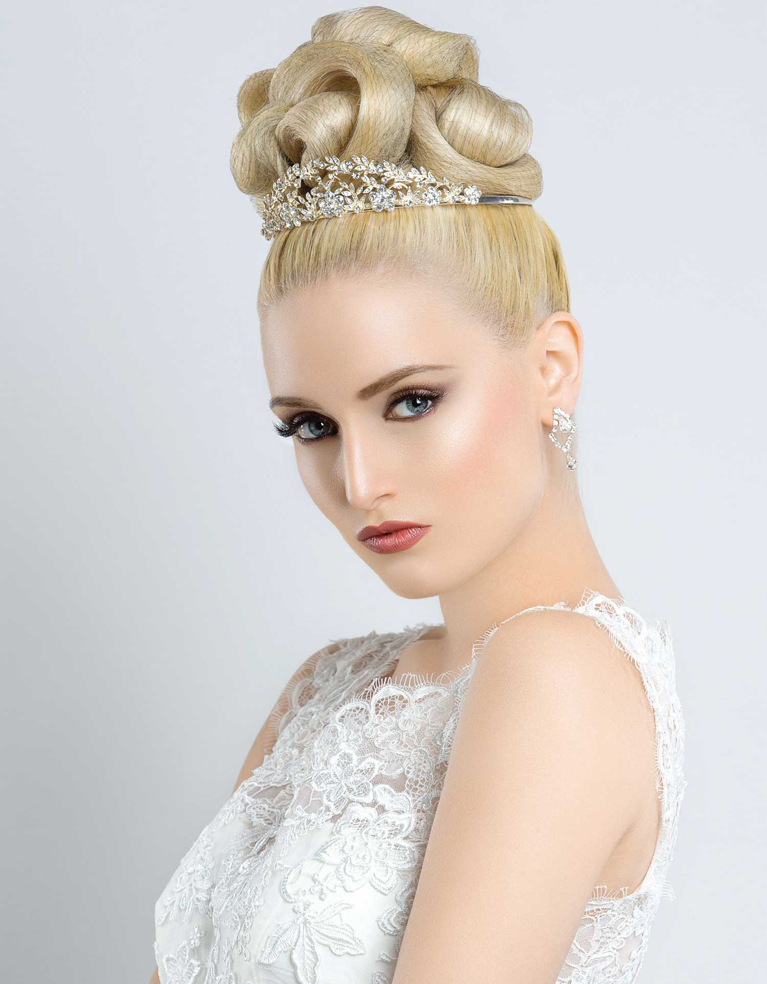 Netted Bridal Updo
