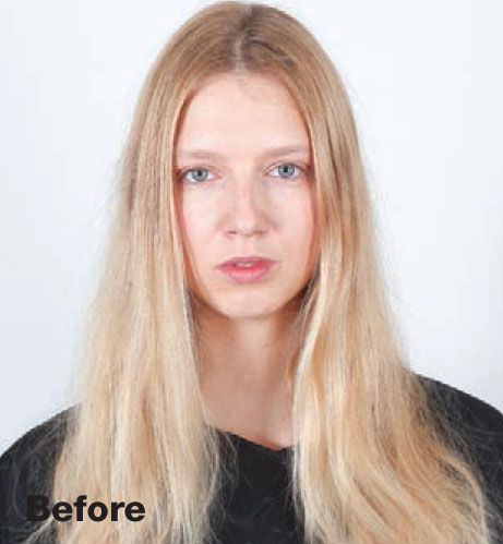 Hairstyle: Rose Gold - before