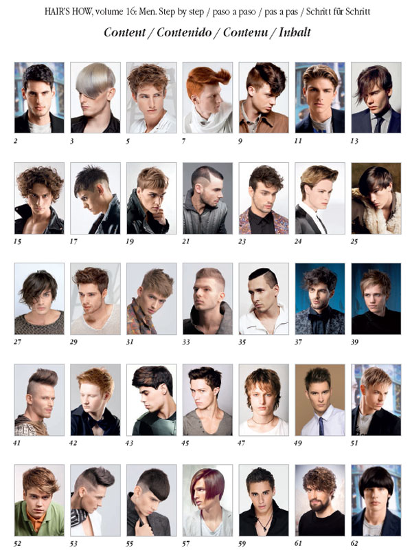 HAIRS HOW, Vol.16: MEN HAIRSTYLES - Hair and Beauty Educational Books