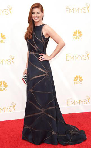 Debra Messing at the 2014 Emmy Awards